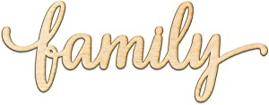 Family Script Wood Sign Home Decor Wall Art Unfinished Charlie 8