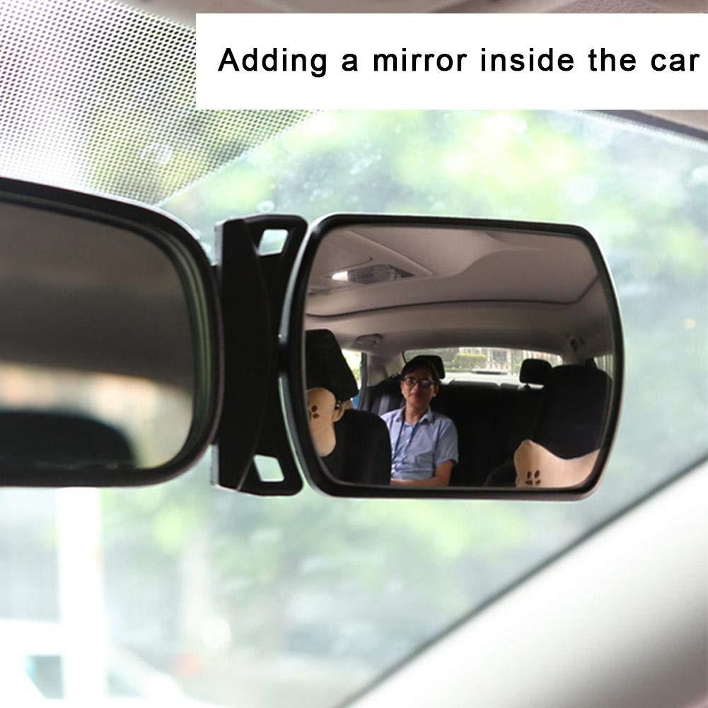 Specchietto retrovisore per seggiolino Auto con Lenti Micro-Curve per osservare i Bambini nel Sedile Posteriore del seggiolino Posteriore Ampio Specchio Trasparente e Rotante cuckoo-X