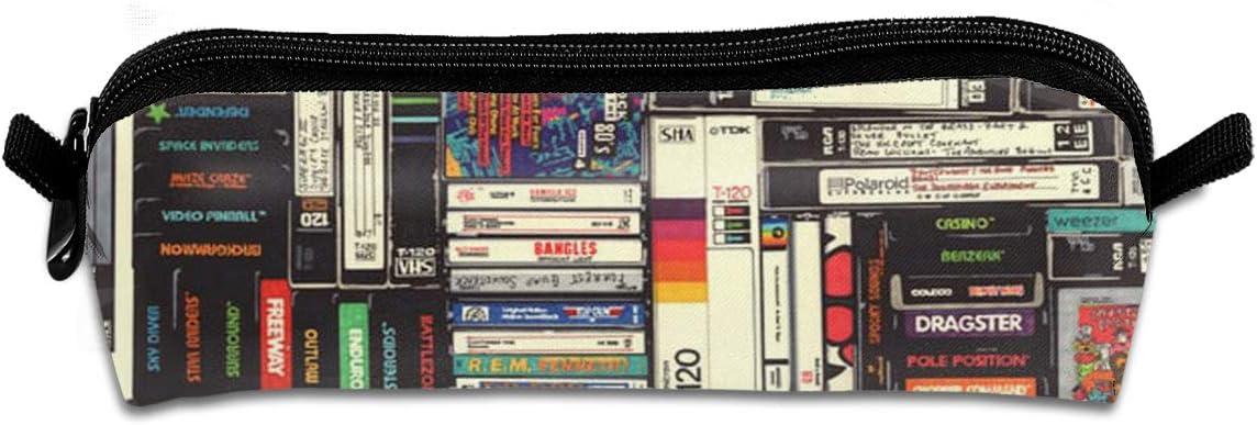Sfjgbfjs Cassettes, VHS & Atari - Estuche Unisex Hecho a Mano para lápices, Estuches y Bolsas, Estuche para lápices: Amazon.es: Hogar
