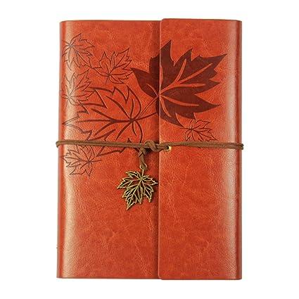 Amazon.com: XRROOK - Diario de piel con cuaderno de espiral ...