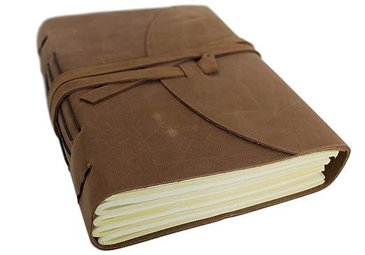 25 opinioni per Enya Taccuino in pelle, realizzato a mano, pagine 100% cotone, 15x 20cm