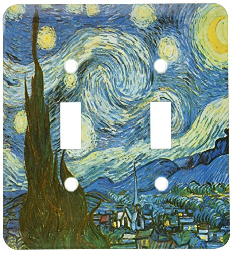 (3dRose LLC lsp_128155_2 The Starry Night By Vincent Van Gogh Double Toggle Switch)