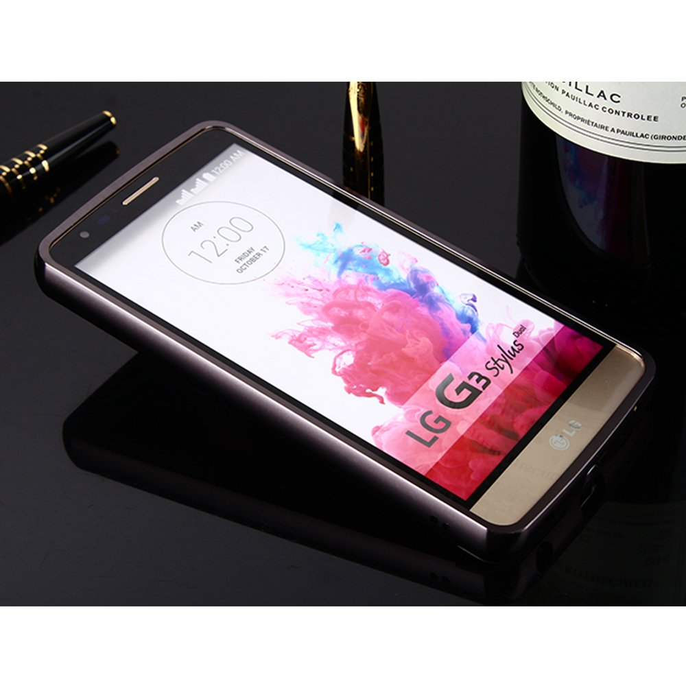 467c660bd5b Vandot Aluminio del Metal Carcasa Protectora Protector Funda para LG G3  Stylus D690 D693 [FUSION MIRROR] Reflexión Brillante Radiante de Lujo PC  Espejo ...