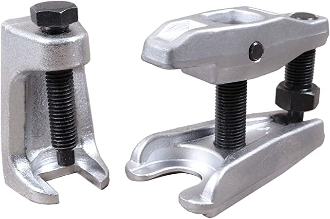 Hengda 2 Piece Set Ball Joint Puller Universal Height Adjustable Tool Joint Ejector Support Joint Tie Rod End Puller Ejector Support Joint Car Garten