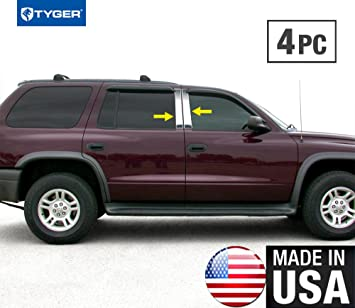 Stainless Steel Pillar Post Chrome Trim 4PC For Cadillac Escalade 2002-2006
