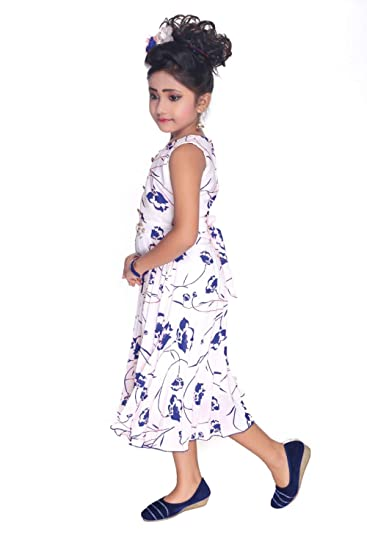 640fc345c Apna Frock for Kids Party Casual Frock for Kids Multicolour (White ...