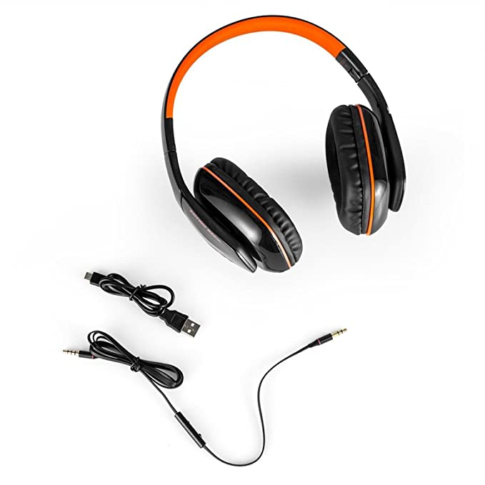 Amazon.com: Alonea KOTION EACH B3506 Bluetooth Headphones Wireless Headset Foldable Game Headset (Orange): Clothing