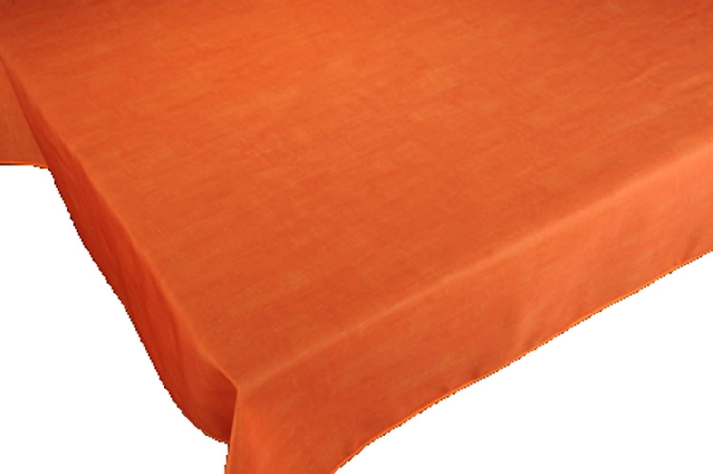 Tovaglia antimacchia, a tinta unita, con colori primaverili, decorazione per la casa, colore: arancione 100 x 140 CIRAD