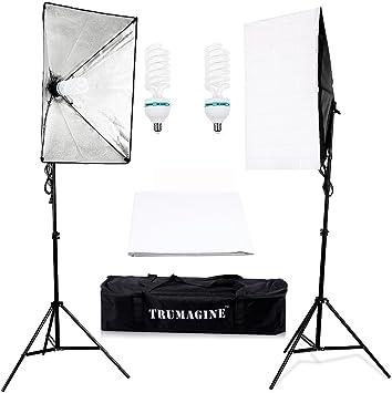 2PCS 85W LED Continuous Lighting Softbox Photography Studio Soft Box Light Stand