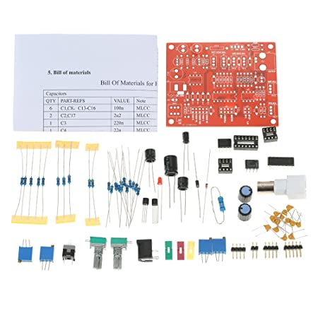 KKmoon FG8038(ICL8038) Function Signal Generator DIY Kit High Precision  Square/Triangle/Sine Wave Output 3Hz-300kHz Adjustable Frequency Amplitude