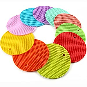 4PCS Multipurpose Silicone Drying Mat, Silicone Pot Holders, Trivets, Jar Openers, Non Slip Heat Resistant Hot Pads