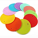 #10: 4PCS Multipurpose Silicone Drying Mat, Silicone Pot Holders, Trivets, Jar Openers, Non Slip Heat Resistant Hot Pads