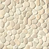 Bedrosians DECHEMUP-BW ''Hemisphere'' Unglazed Pebble, Bali White