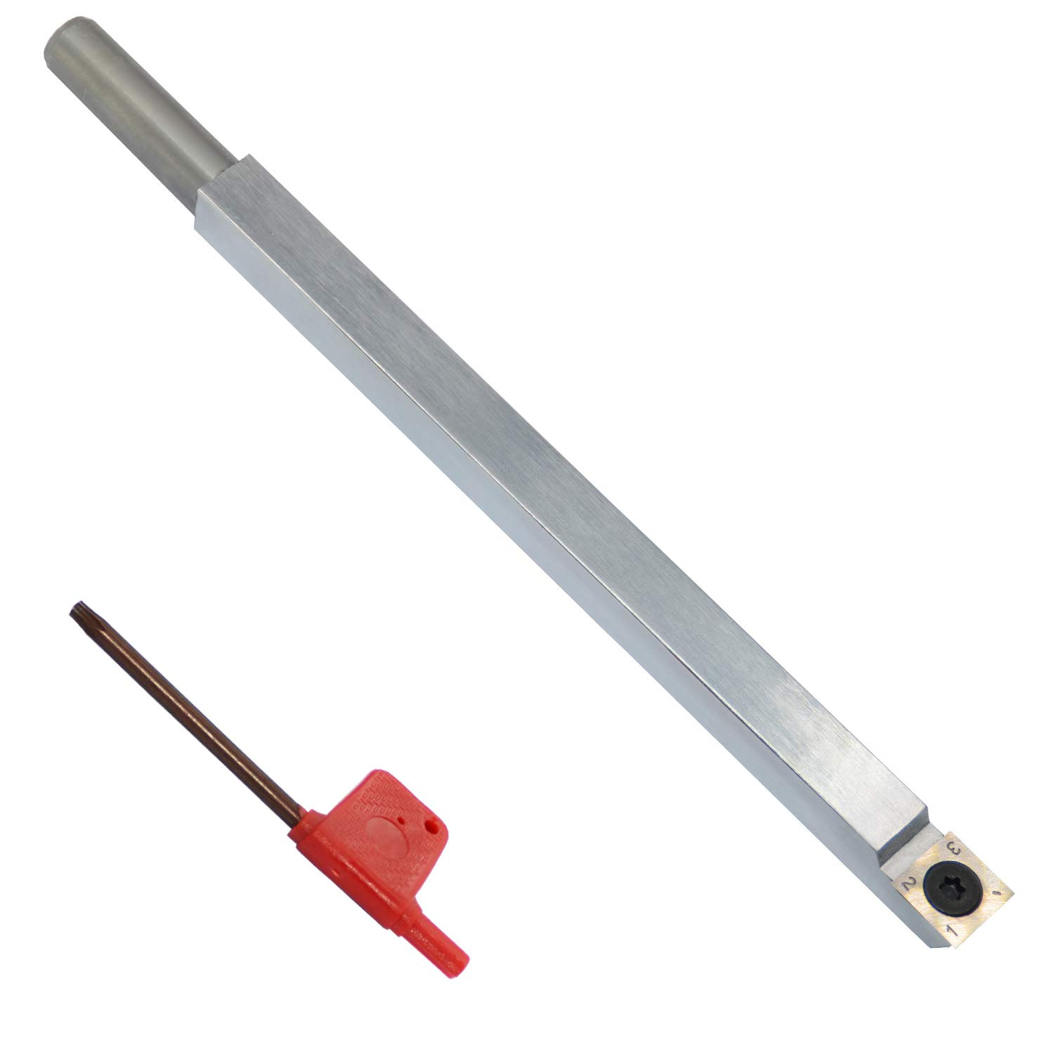Wood Turning Tool Carbide Tipped Lathe Chisel Rougher Tool Bar 8.68 Inches With 14mm Square Carbide Insert for Wood Hobbyist or DIY or Carpenter,Handle not Include