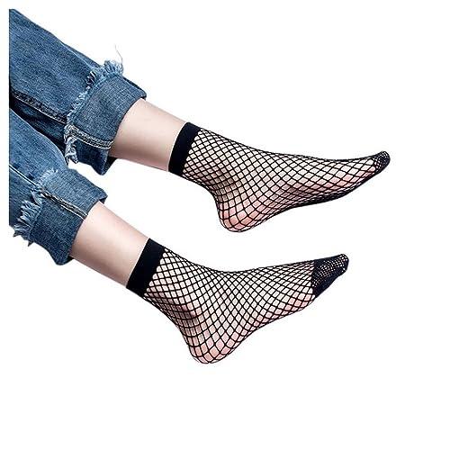 eeacb7761293b Inkach Women Fishnet Socks, Stylish Gils Ladies Sexy Lace Fishnet Net Top- Ankle Short