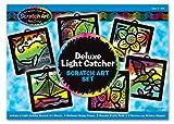 Melissa & Doug Deluxe Light Catcher Scratch Art Set - 6 Sheets, 6 Frames