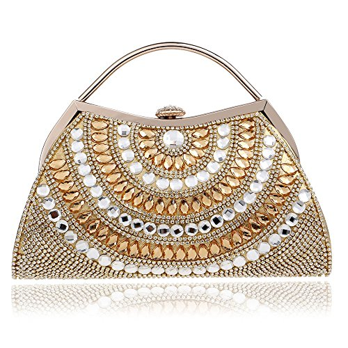 Gold Banquet Bag GROSSARTIG Clutch end Dress High Women's Evening Dinner qwP7IWzX7