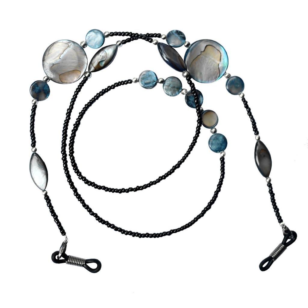 MagiDeal Cordiani Per Occhiali Da Sole Catena Perline Accessori Cinghia Cavo Collo Supporto Eyewear Nero Unisex