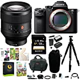 Sony Alpha a7SII Mirrorless Digital Camera w/ FE 85mm f/1.4 GM Lens & 128GB SD Card Bundle