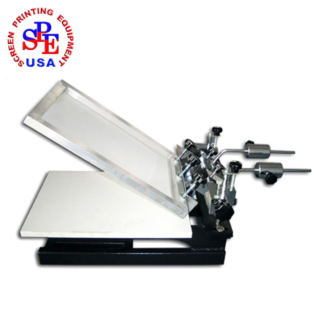 "1-1 Micro-adjustable Screen Printing Machine Silk Screen Printer with 3 Adjustable Pallets 23.6""x17.7"" (60x45cm) 17.3''X12.6''(44x32cm) 11.8""x9.4"" (30x24cm) by Screen Printing Machine Series"