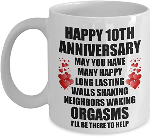 10 Year Anniversary Gift For Wife 10th Anniversary Gift For Wife Funny Mug Coffee Mugs Home Garden