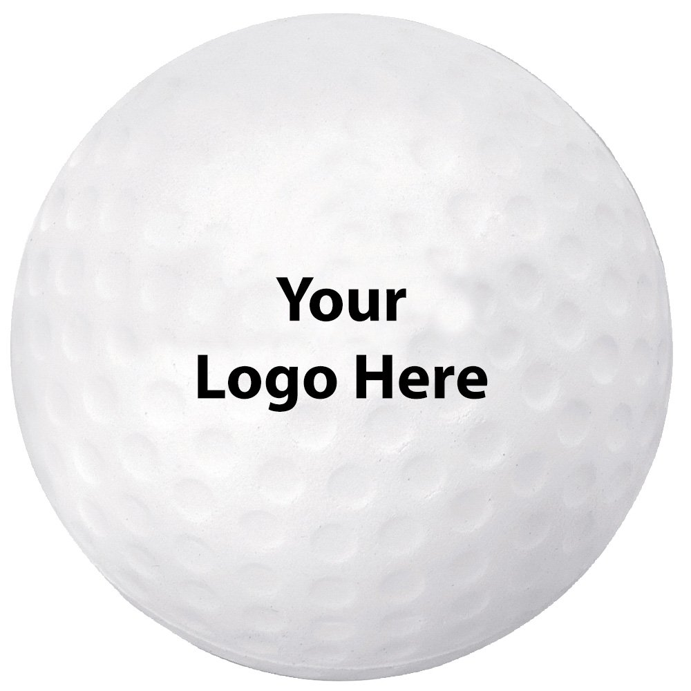 Golf Ball Stress Reliever - 300 Quantity - $1.05 Each - PROMOTIONAL PRODUCT / BULK / BRANDED with YOUR LOGO / CUSTOMIZED