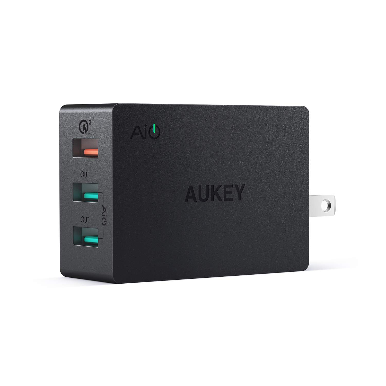 Amazon.com: Aukey Cargador de pared USB con función de carga ...