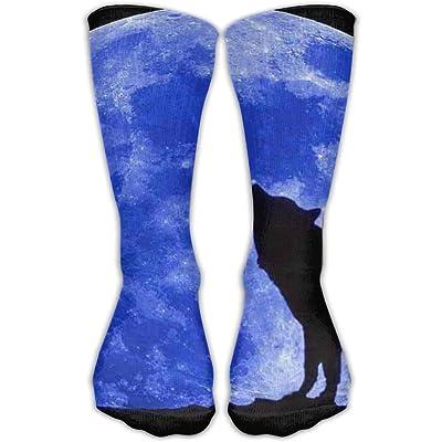 TO-JP Wolf Under The Moon Crew Socks Short Sports Socks