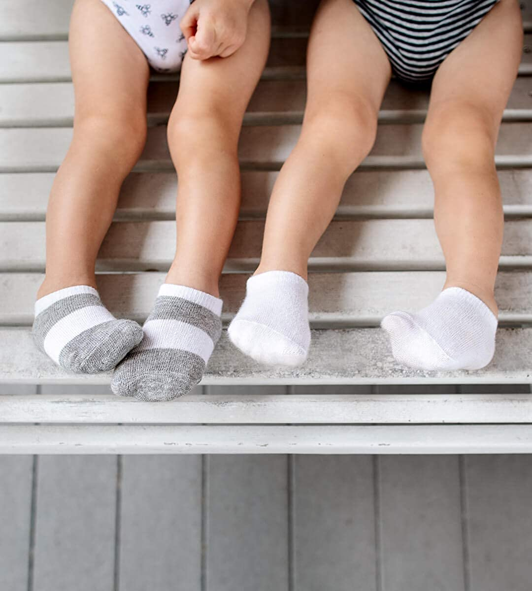 Burts Bees Baby Baby 6-Pack Ankle Socks with Non-Slip Grips Made with Organic Cotton