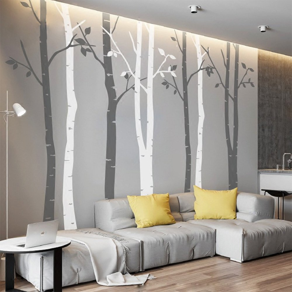 NSunForest Ft White Birch Tree Vinyl Wall Decals Nursery Forest - Vinyl wall decals birch tree