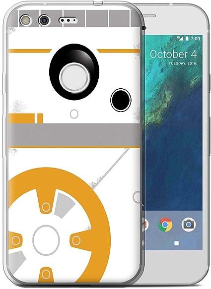 Stuff4 Coque Gel Tpu De Coque Pour Google Pixel Xl 55 Bb Droid Art Inspiré Designvisages Sci Fi Mignons Collection