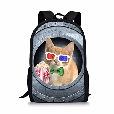 7cdd36c019df Cat Unisex Casual College Backpack Busines Laptop Backpacks for Womens  Present
