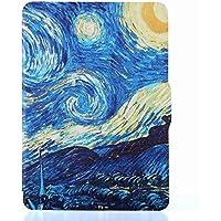 Capa para Kindle Paperwhite (até 2018) - Aciona descanso - Fecho magnético - Noite Estrelada