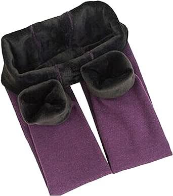 Yodensity niña invierno Leggings elástico cálido grueso mallas para 4 – 12 años