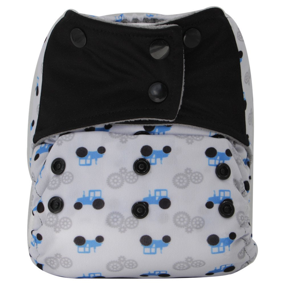 A-05 AIO Reusable Washable Cloth Diaper Nappy Charcoal Bamboo Insert Overnight