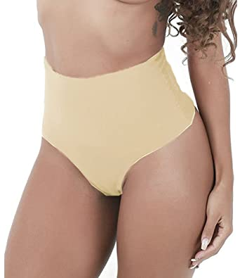8ee4790883e16 NINGMI Women s Shapewear Thong Brief Seamless Hi-Waist Tummy Control Panty   Amazon.co.uk  Clothing