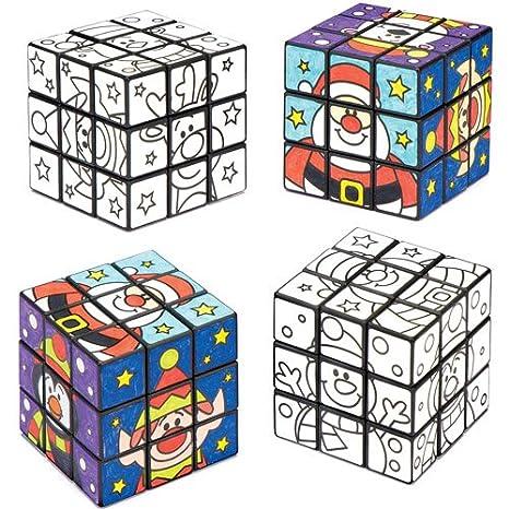 Cubi Puzzle Amici Natalizi Da Colorare Per Bambini Giochi E