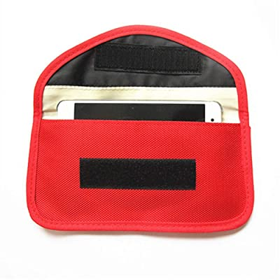 Faraday Bag,RFID Signal Blocking Bag Shielding Pouch Wallet Case for Cell Phone Privacy Protection and Car Key FOB, Anti-Tracking Anti-Spying (Red): Automotive