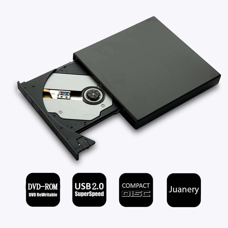 Juanery Upgraded External CD Drive,Protable USB 2.0 External CD-RW Drive DVD-R Combo Burner Writer Player For Windows 2000 / XP/Vista / Win 7/ Win 8 / Win 10,Ultra Notebook PC Desktop Computer (Blac by juanery (Image #8)