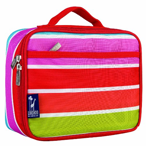 Wildkin Bright Stripes Lunch Box Pink School Stripe