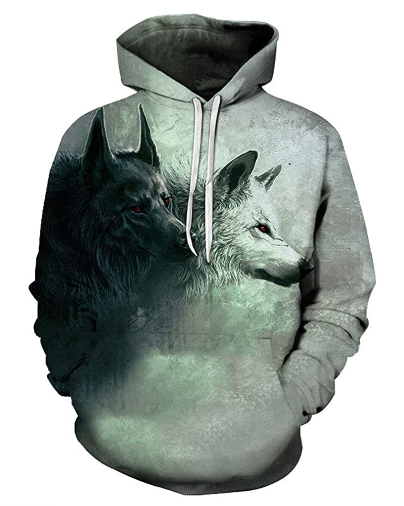 Chiclook Cool Wolf Hoodie Sweatshirt Animal Fashion Designed Pullover Tracksuits Novelty Streetwear Coat