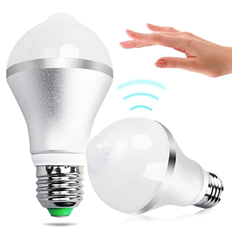 Bombillas LED, iRainy E27 7W Bombillas de Bajo Consumo con Sensor de Movimiento, Luz