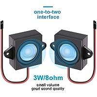 2pcs Arduino Haut-parleur 3 Watt 8 ohms Simple Cavity Mini haut-parleur pleine gamme Cavity mobile portable publicité machine Connecteur Haut-parleur de séparation One-to-Two Interface 3.3V 5V