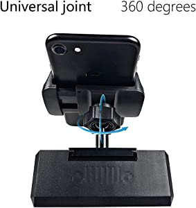 Jeep Phone Holder, BESTAOO IPAD Centre Dash Console Mount Universal Car Tablet Mobile Phone Holder for Jeep Wrangler JK 2012-2017 - Black