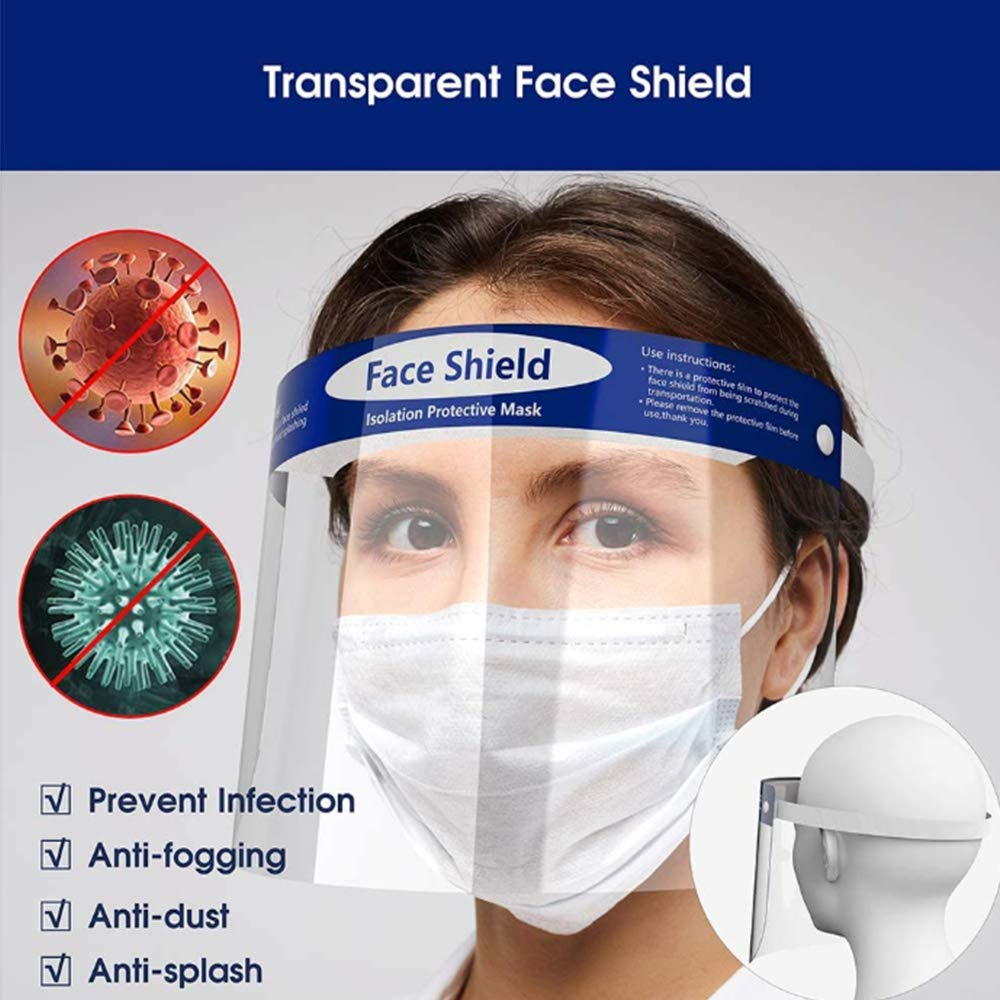Cocina protecci/ón Facial antisaliva Multiusos Cubierta Facial Transparente para el hogar XIEJ Protector Facial Protector Facial Transparente a Prueba de Polvo a Prueba de Viento
