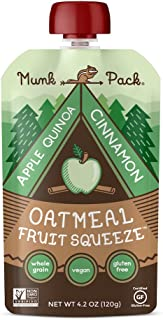 product image for Munk Pack Oatmeal Fruit Squeeze Pouch, Apple Quinoa Cinnamon, 4.2 Ounce (Pack of 6)