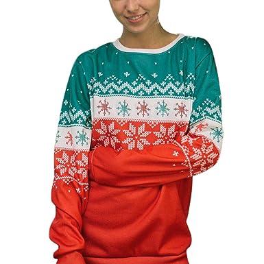 Mujer Sudadera, Navidad Impresa Sudaderas con Capucha Cortas para Mujer Camisetas Mujer Blusa Tops Sudadera Mujer: Amazon.es: Ropa y accesorios
