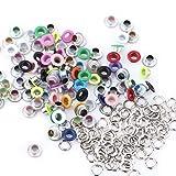 5Conjuntos de colores, 100ojetes metálicos para Scrapbooking hebilla piel Craft Apparel accesorio nuevo 5mm, Color Variado, 1