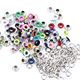 Eyelet Grommets, 100 Sets Colorful Round DIY Grommets Washers for Leather Canvas Clothes Belts Shoes Crafts(Colorized)
