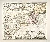 Historic 169-? Map | Belgii novi, angliae novae, et partis Virginiae : novissima deli | Antique Vintage Map Reproduction